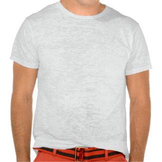 Plain vintage white fitted burnout t-shirt for men