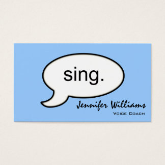 Plain Voice Coach Sing Modern Business Card