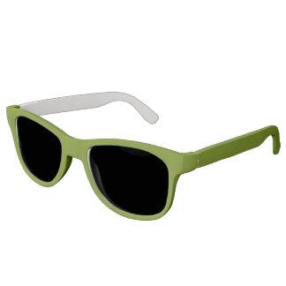 Plain Watermelon Dark Green sunglasses