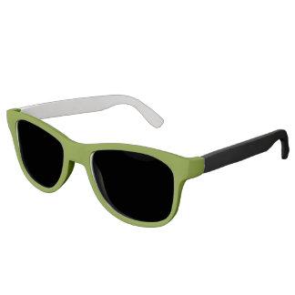 Plain Watermelon Dark Green sunglasses black