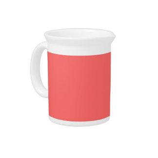 Plain Watermelon Pink pitcher