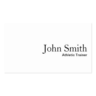 Plain White Athletic Trainer Business Card