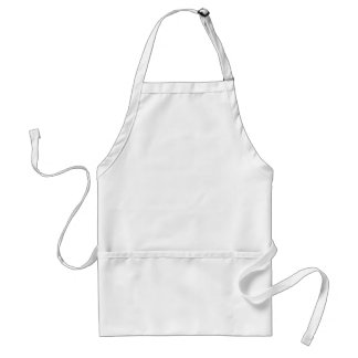 Plain White Background No Image Customize Simple Standard Apron