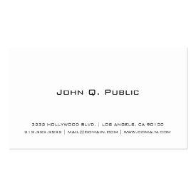 Plain White Business Card at Zazzle