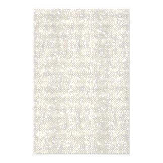Plain White Confetti Glitter Personalized Stationery