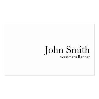 Plain White Investment Banker Business Card