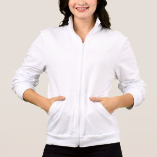 Plain white jogger fleece for women, ladies printed jacket