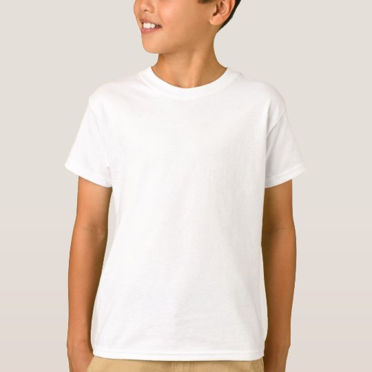 Plain White Kids' Basic Hanes Tagless T-Shirt