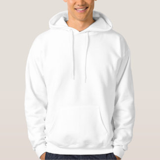 Plain White Mens Basic Hooded Sweatshirt