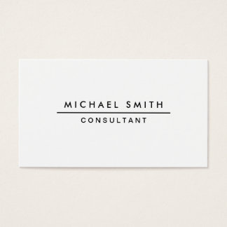Plain White Professional Elegant Modern Simple