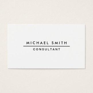 Plain White Professional Elegant Modern Simple Business Card