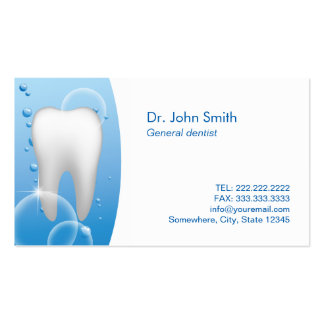 Plain White Tooth Dental Care Appointment Pack Of Standard Business Cards