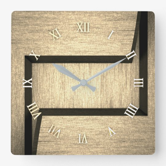 Plain wood design wall clock