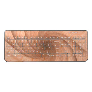 Plain wood wireless keyboard