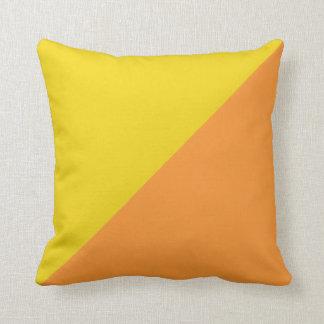 Plain Yellow and Orange Background Cushion