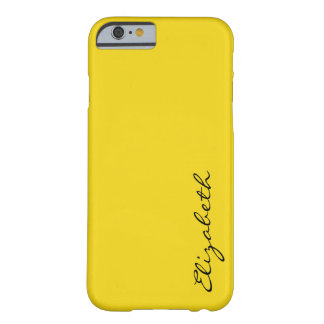 Plain Yellow Background Barely There iPhone 6 Case