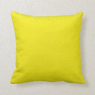 Plain yellow background cushion