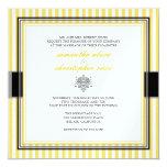 Plain yellow stripes wedding invitations