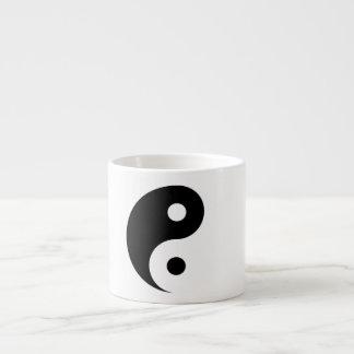 Plain Yin Yang Symbol on Light Grey Espresso Cup