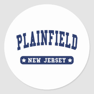Plainfield New Jersey College Style tee shirts Classic Round Sticker