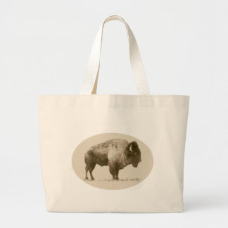 Plains Bison Tote Bags