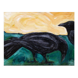 Plains Crows Postcard