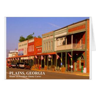 PLAINS, GEORGIA - Home of President Jimmy Carter Card