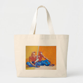 Plains Peoples-oil on paper 20x27 Bag