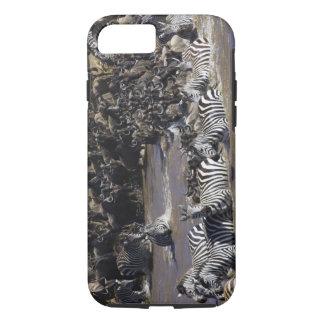 Plains Zebra (Equus quagga) and Blue Wildebeest iPhone 8/7 Case