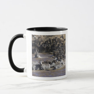 Plains Zebra (Equus quagga) and Blue Wildebeest Mug