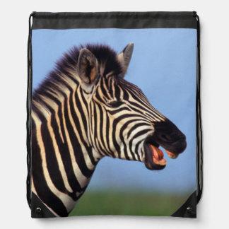 Plains Zebra (Equus Quagga) Calling Drawstring Bag