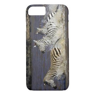 Plains Zebra (Equus quagga) running in water, iPhone 8/7 Case