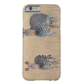 Plains zebra (Equus quagga) with foal in Barely There iPhone 6 Case