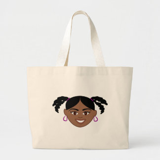 Plaits Girl Face Canvas Bag