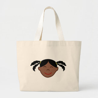 Plaits Girl Face Jumbo Tote Bag