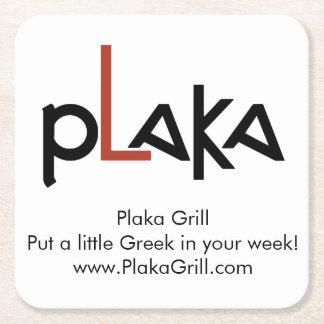 Plaka Logo Square Paper Coaster