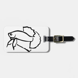 Plakat betta luggage tag