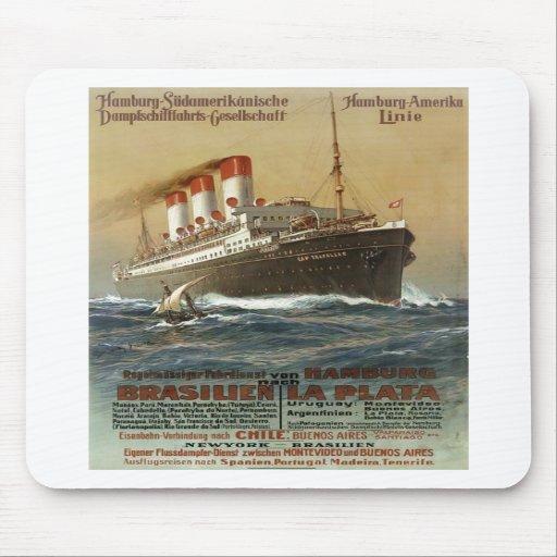 Plakat der Hamburg 1899 - Cruise Ship Liner Mousepads
