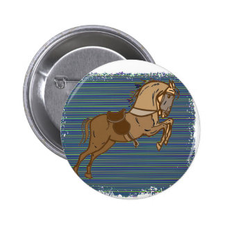 Plalyful Brown HORSE Sketch 6 Cm Round Badge