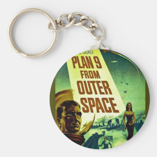 Plan 9 From Outer Space Basic Round Button Key Ring