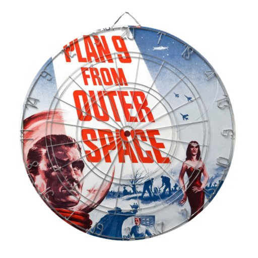 Plan 9 From Outer Space Dartboard With Darts