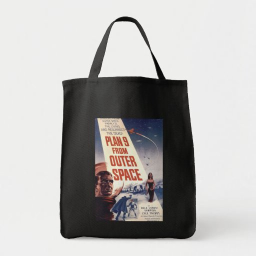 Plan 9 From Outer Space Movie Poster Canvas Bag