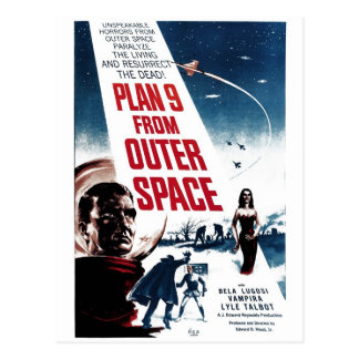 """Plan 9 From Outer Space"" Postcard"