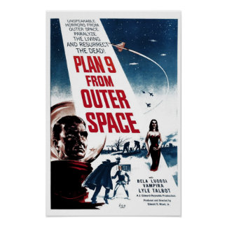 """Plan 9 From Outer Space"" Poster"