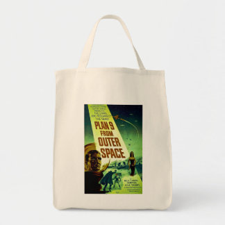 Plan 9 From Outer Space Grocery Tote Bag