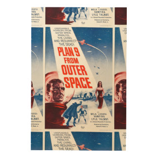Plan 9 From Outer Space Wood Prints
