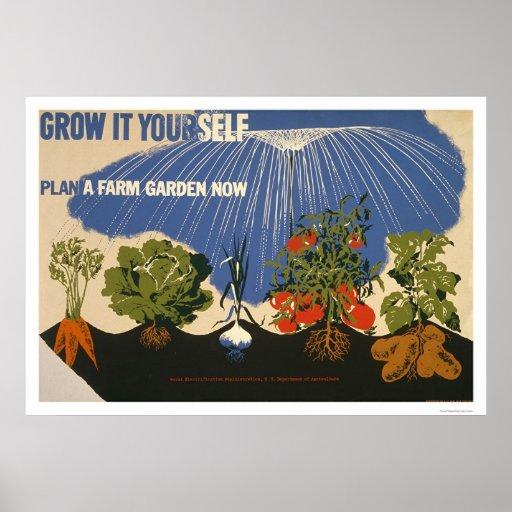 Plan A Farm Garden 1941 WPA Poster
