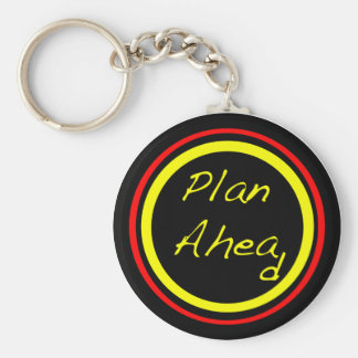 Plan Ahead Basic Round Button Key Ring
