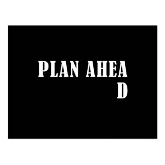 Plan Ahead Postcard