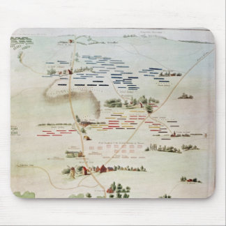 Plan and view of the Battle of Waterloo Mouse Pad
